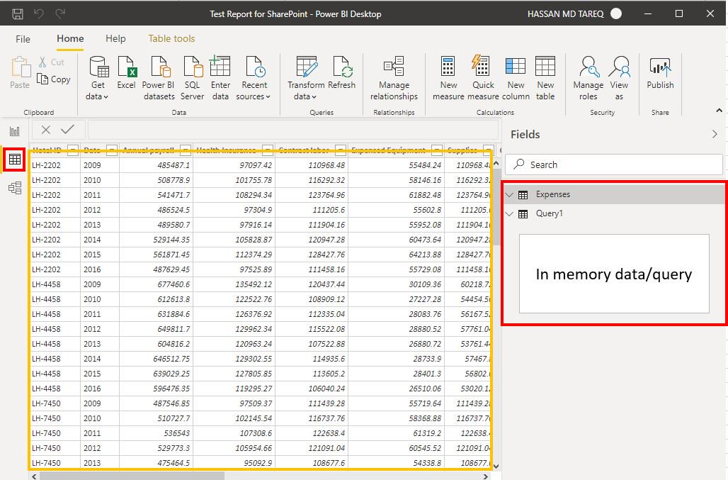 Power BI Desktop Data Step 1